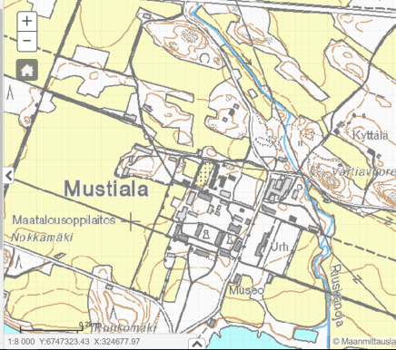 Mustiala Team Femma Maankamara-kartta